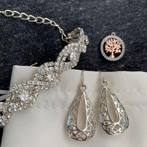 Sterling silver earrings/bracelet/charm
